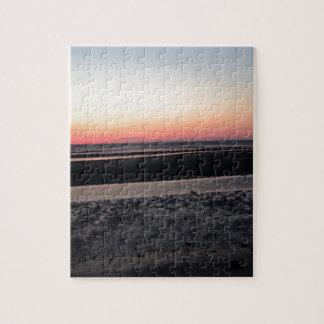 Puzzle Coucher du soleil à la plage dans le New Jersey