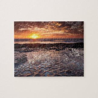 Puzzle Coucher du soleil à la plage, la Californie