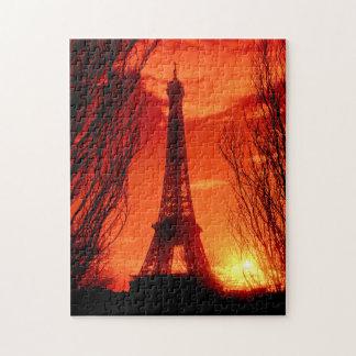 Puzzle Coucher du soleil à Paris