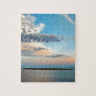 Puzzle Coucher du soleil au-dessus de l'île
