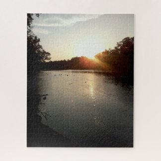 Puzzle Coucher du soleil de rivière