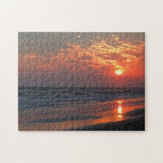 Puzzle Coucher du soleil d'océan - île de chêne, OR