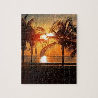 Puzzle Coucher du soleil tropical