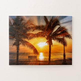 Puzzle Coucher du soleil tropical vif