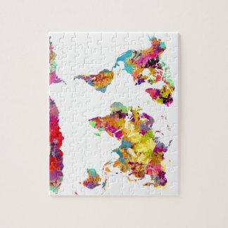 Puzzle couleurs de carte du monde