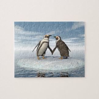 Puzzle Couples de pingouins