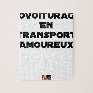 Puzzle COVOITURAGE EN TRANSPORT AMOUREUX - Jeux de mots