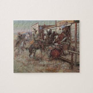 Puzzle Cowboys vintages, dedans sans frapper par cm