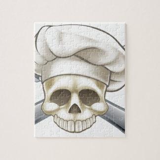 Puzzle Crâne et chef d'os croisés
