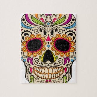 Puzzle Crâne mexicain de couleur