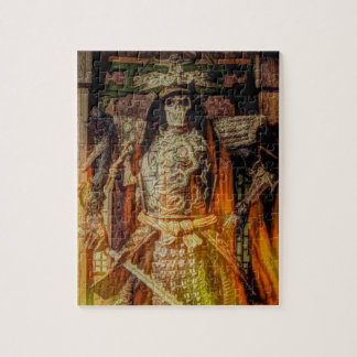 Puzzle crâne samouraï japonais de samouraïs d'armure de
