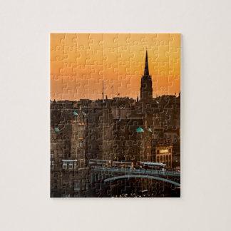 Puzzle Crépuscule d'horizon d'Edimbourg