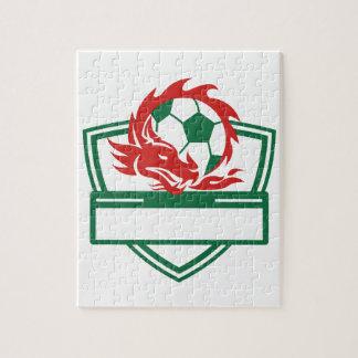 Puzzle Crête rouge de ballon de football de dragon