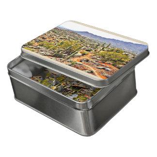 Puzzle croisé d'acrylique de paysage de ranch de