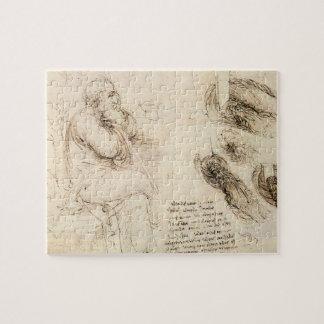 Puzzle Croquis de vieil homme et d'eau par Leonardo da