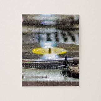 Puzzle Cru de vinyle de plaque tournante rétro de bruit