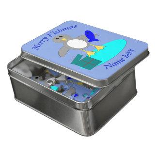 Puzzle d'acrylique de pingouin de pêche de Joyeux