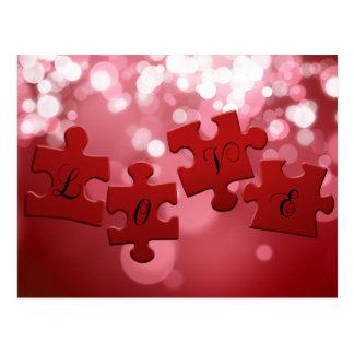 Puzzle d'amour - carte postale