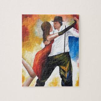 Puzzle Danse au rêve coloré d'amants de tango d'aube !