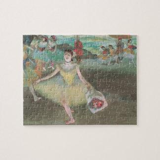 Puzzle Danseur avec le bouquet, faisant une révérence par
