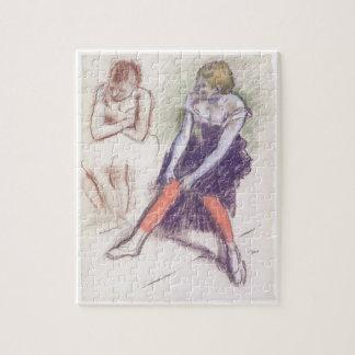 Puzzle Danseur avec les bas rouges par Edgar Degas
