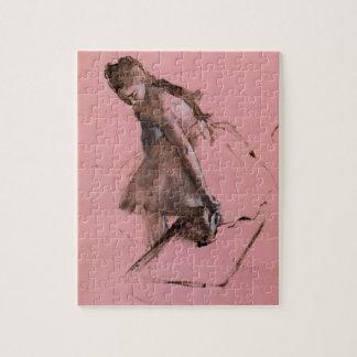 Puzzle Danseur glissant sur sa chaussure par Edgar Degas
