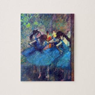 Puzzle Danseurs dans le bleu par Edgar Degas, art vintage