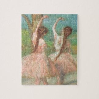 Puzzle Danseurs dans le rose par Edgar Degas, art vintage