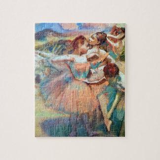 Puzzle Danseurs dans un paysage par Edgar Degas
