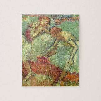 Puzzle Danseurs en vert, Edgar Degas, art vintage de