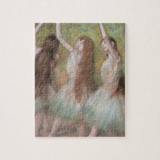 Puzzle Danseurs verts par Edgar Degas, art vintage de
