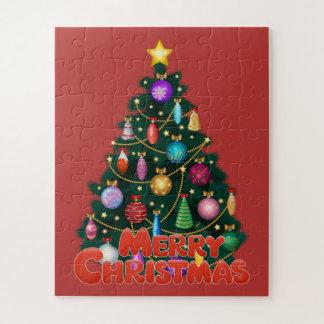 Puzzle d'arbre de Noël d'enfants