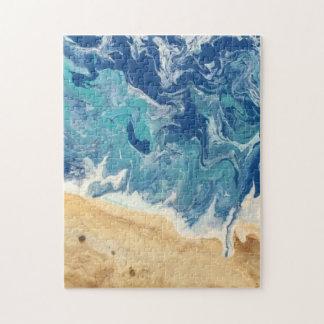 Puzzle d'art abstrait de plage