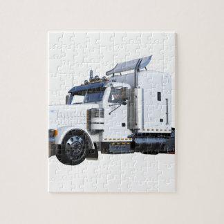 Puzzle De blanc remorque de tracteur semi