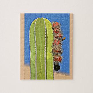Puzzle de cactus de Saguaro de bande dessinée