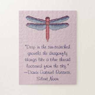Puzzle de citation de libellule de Dante Gabriel R