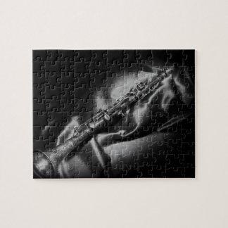 Puzzle De clarinette toujours la vie antique, B&W