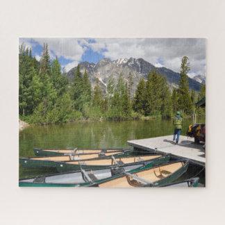 Puzzle de conception de canoës de lac jenny