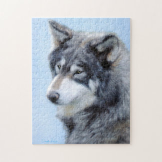 Puzzle de dessin de loup