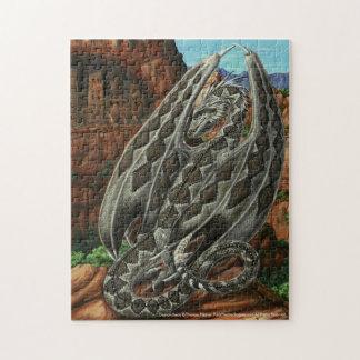 Puzzle de dragon de dos en forme de losange