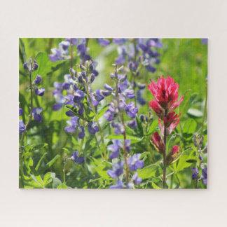 Puzzle de fleurs sauvages de montagne