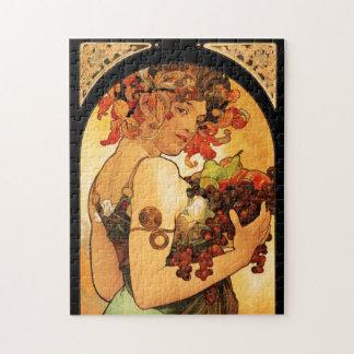 Puzzle de fruit d'Alphonse Mucha