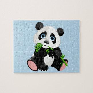 Puzzle de jeu d'ours panda de bébé
