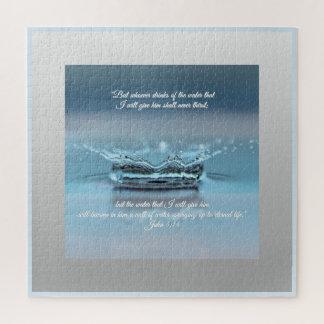 Puzzle De l'eau bleue de la vie vers John de bible de