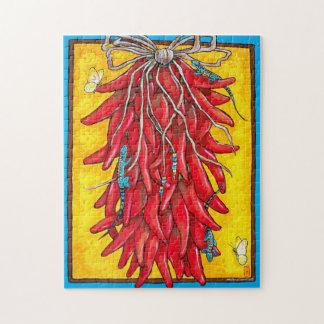Puzzle de lézard de Ristra de poivre de piment du