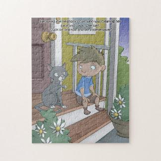 Puzzle de livre de hoquet - le chat - 11x14 (252
