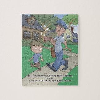 Puzzle de livre de hoquet - le facteur - 8x10 (PC
