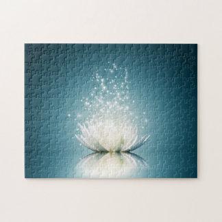 Puzzle de magie de Lotus blanc
