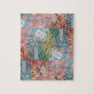 Puzzle de mosaïque de patchwork d'art de Phoenix