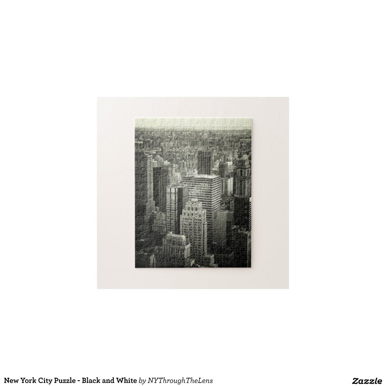 Puzzle de new york city noir et blanc zazzle for Credence new york noir et blanc